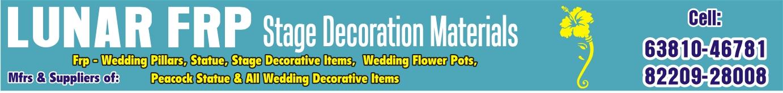 FRP WEDDING DECORATION DEALER in Karur, Manufacturers, Exporters