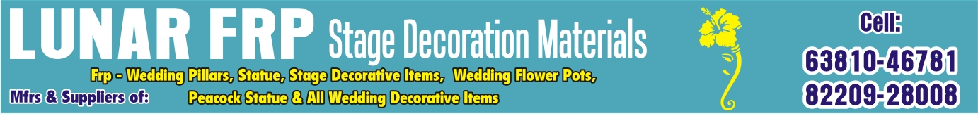 Top 10 FRP WEDDING DECORATION ITEM in Trichy, Manufacturers